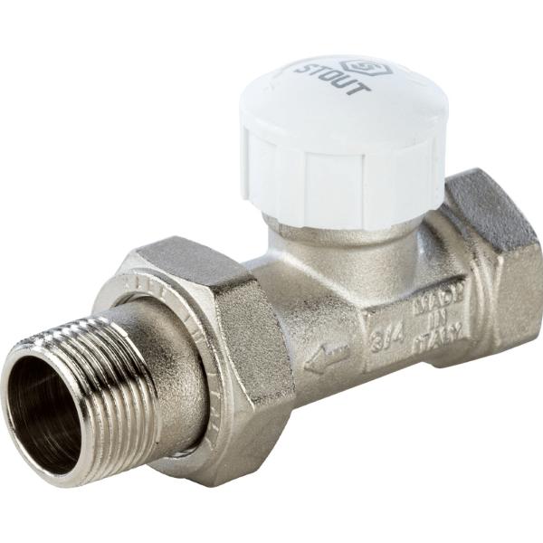Вентиль термостатический STOUT 3/4 прямой