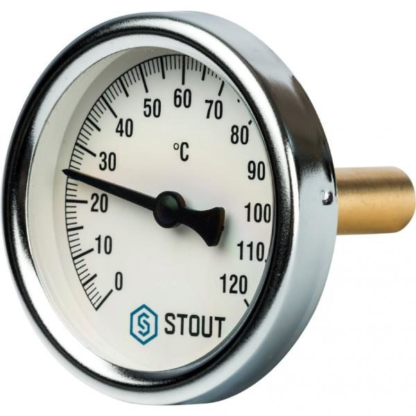 Термометр STOUT Dn 63 мм гильза 50мм 1/2