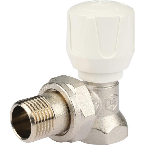 STOUT Клапан ручной терморегулирующий, угловой